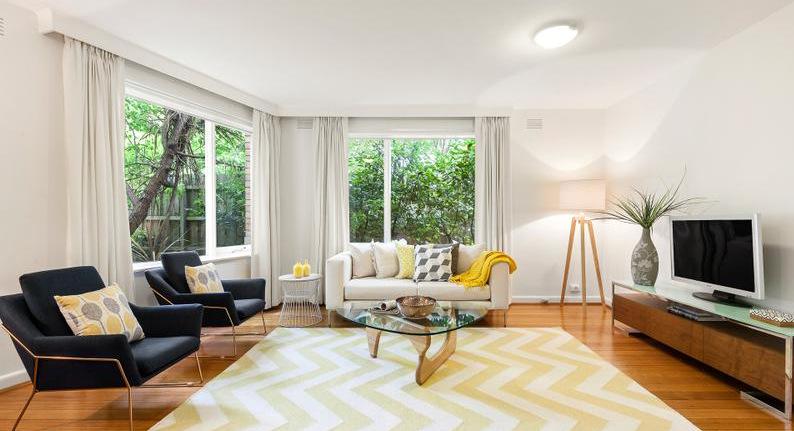 Living room floorboards