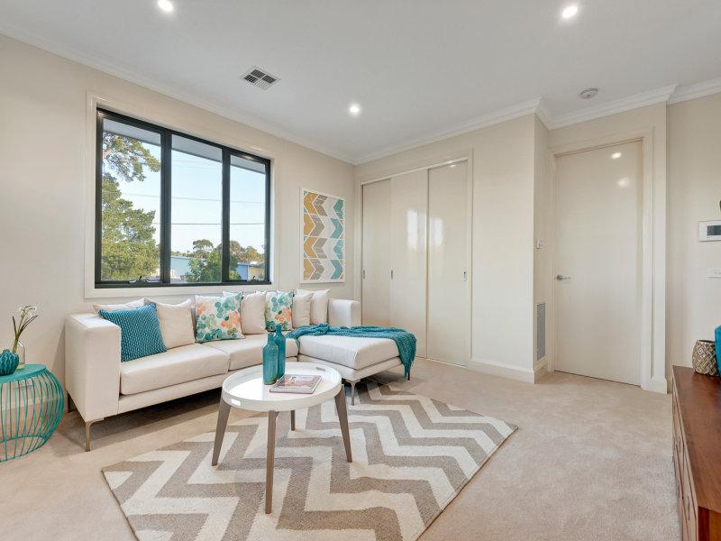 Melbourne Home Details Home styling apartment living room contemp blue tones