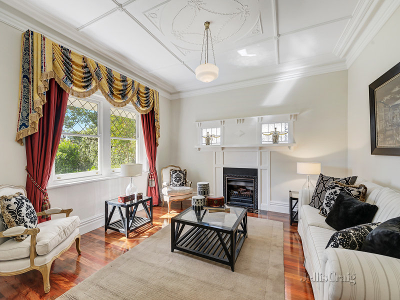 Melbourne Home Details Home styling formal lounge period black and beige