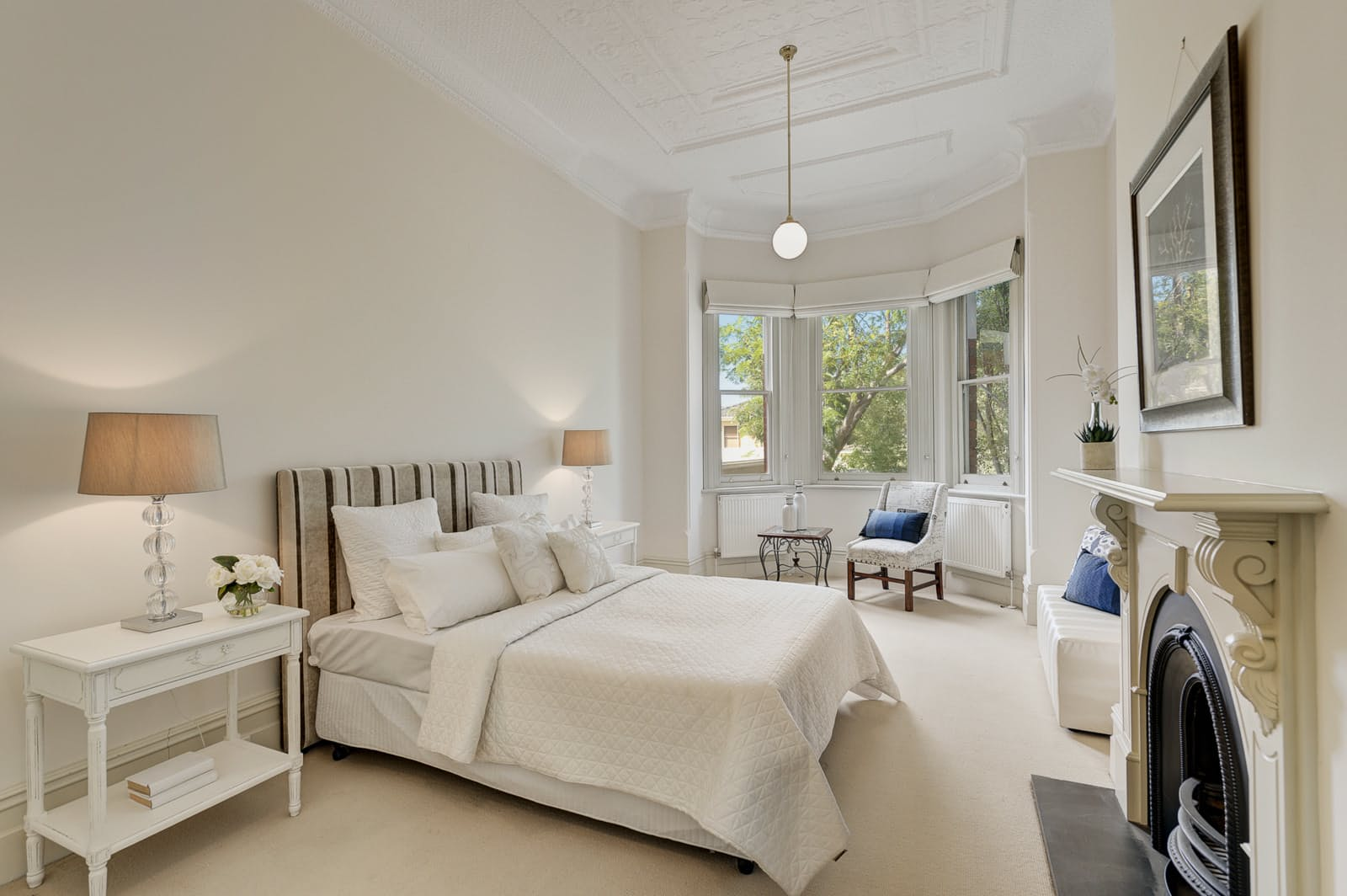 Melbourne Home Details Home styling period bedroom fresh