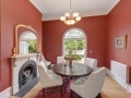 Melbourne Home Details Home styling period dining red